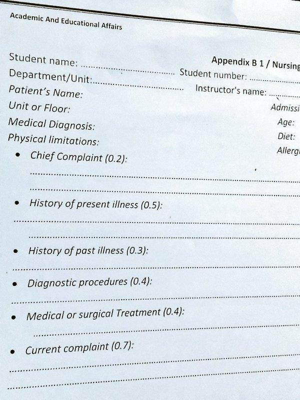 Help! i need examples of case study nursing process - Nursing