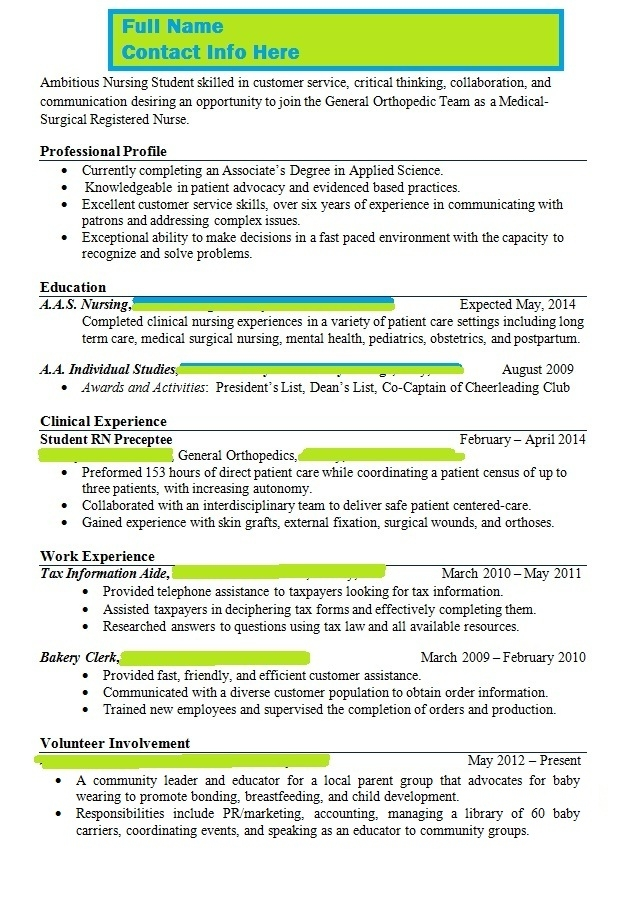 Instructor Says Resume Is Wrong Please Help With Content