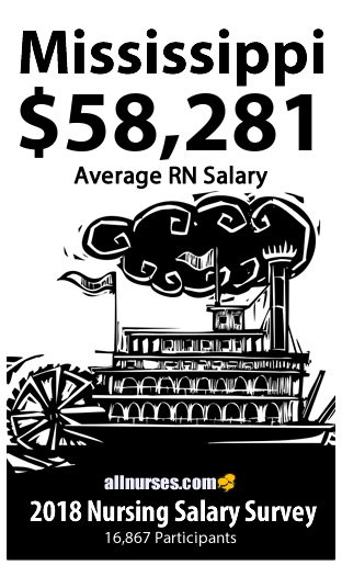 Mississippi registered nurse salary
