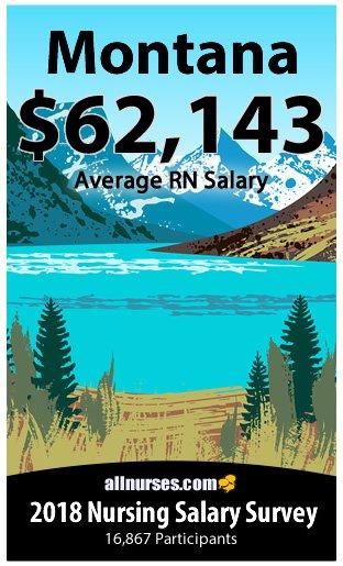 Montana registered nurse salary