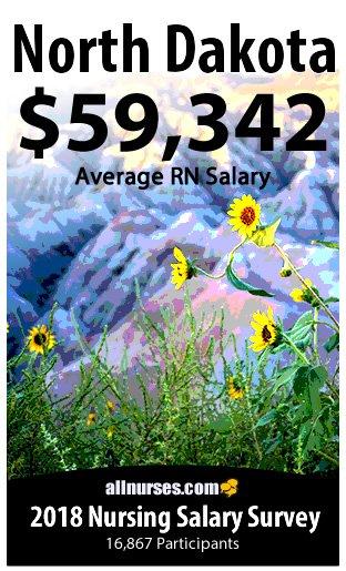 North Dakota registered nurse salary