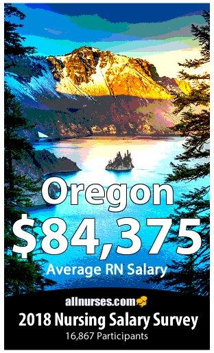 Oregon registered nurse salary