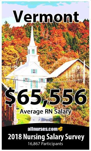 Vermont registered nurse salary