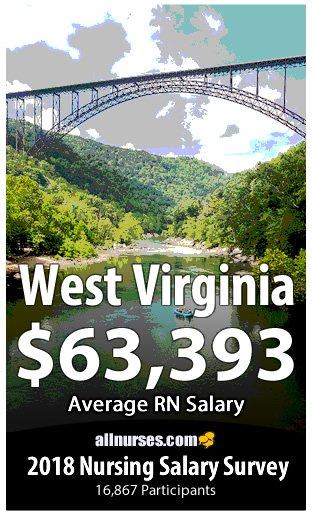 West Virginia registered nurse salary